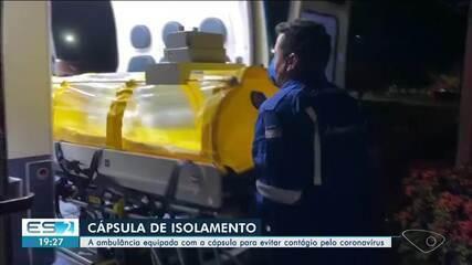 Ambulância de Aracruz, no ES, ganha cápsula de isolamento para pacientes com Covid-19