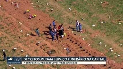 1.124 pessoas morreram por Covid-19 na Capital; outras 1.603 mortes aguardam confirmação