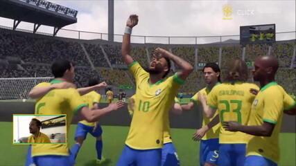 Os gols de Everton Ribeiro (Brasil) 2 x 2 (Argentina) Aguero na final do Fifa