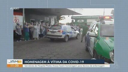 Servidores da Saúde homenageiam técnico de enfermagem em Manaus vítima da Covid-19