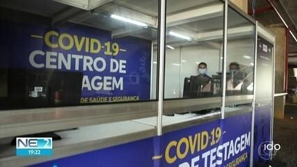 Estado abre dois centros de testagem de Covid-19 para profissionais de saúde e segurança