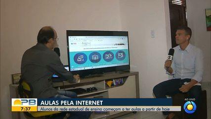 Alunos da rede estadual de ensino começam a ter aulas pela internet a partir de hoje