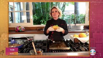 Ana Maria faz receitas simples de Hambúrguer em casa