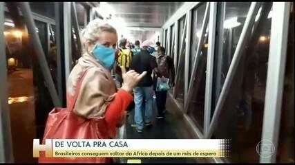 Brasileiros conseguem voltar da África depois de um mês de espera