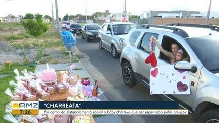 """Amigos realizam """"Charreata"""" surpresa para mãe de Boa Vista"""