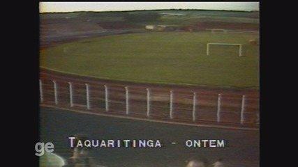 Relembre reportagem da EPTV em 1983, sobre a construção do Taquarão