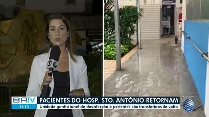 Pacientes do hospital Santo Antônio, da OSID, são transferidos de volta para a unidade