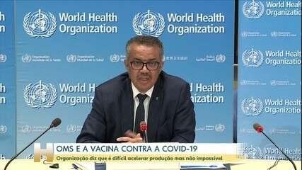 OMS diz que vacina contra a Covid-19 pode demorar de 10 a 16 meses para ser desenvolvida