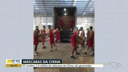Coronavírus: ES recebeu 1,5 milhão de máscaras da China, diz governador