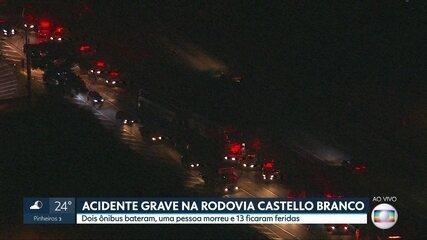 Uma pessoa em acidente na Castello Branco