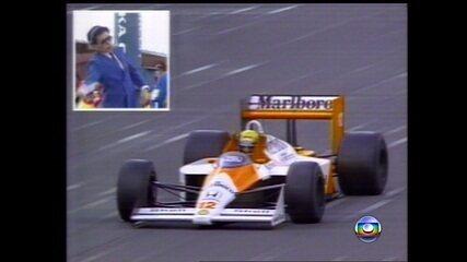 Em 1988, Ayrton Senna vence o Grande Prêmio do Japão e é campeão mundial de Fórmula 1