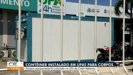 Contêiner instalado em UPAs para receber mortos da COVID-19