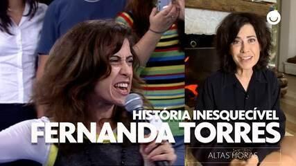 Fernanda Torres relembra canção atrapalhada no Altas Horas