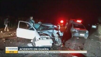 Uma pessoa morre e duas ficam feridas em acidente em Guaíra, SP