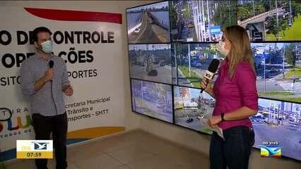 Veja como está o trânsito durante o lockdown em São Luís