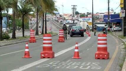 Polícia intensifica fiscalização nas ruas de São Luís, no segundo dia de 'lockdown'