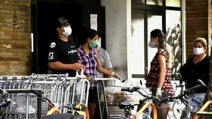 Desrespeito ao decreto estadual no 1º dia de uso obrigatório de máscara no Ceará