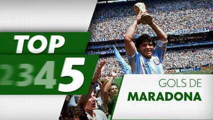 Top 5: relembre belos gols de Maradona