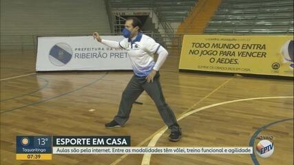 Professores fazem live com atividades físicas durante a quarentena em Ribeirão Preto, SP