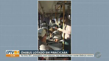 Piracicaba tem problemas com ônibus lotado na linha 301