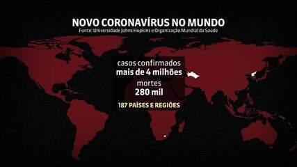 Mundo ultrapassa a marca de 4 milhões de infectados com o novo coronavírus