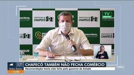 Mesmo com avanço do coronavírus, Chapecó decide manter comércio aberto