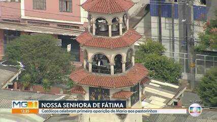 Sinos de igreja soam em homenagem a Nossa Senhora de Fátima, em BH