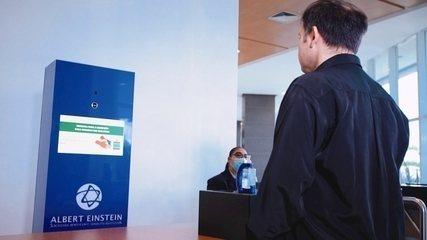 Totens fazem medição de temperatura automatizada de pacientes