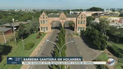 Holambra faz barreiras sanitárias para evitar acesso de turistas no final de semana