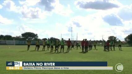 Goleiro do River-PI deixa o clube e o galo se prepara para retorno do estadual