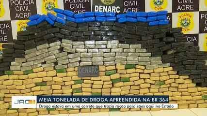 Polícia apreende 500 quilos de droga na Br-364, em Rio Branco