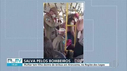 Mulher dá à luz dentro de ônibus em Araruama, no RJ