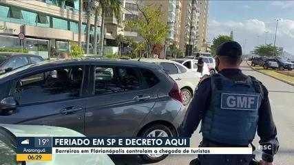 Após SP adiantar feriados, Florianópolis monta barreiras para controlar a chegada de turis