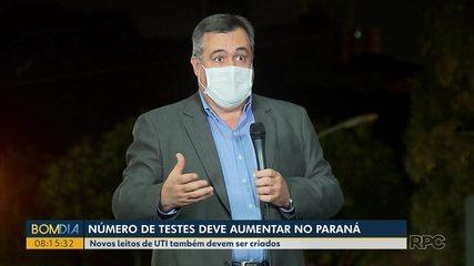 Número de testes para identificar COVID-19 deve aumentar no Paraná