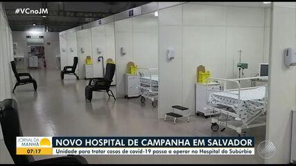 Novo hospital de campanha para pacientes com Covid-19 começa a funcionar nesta quinta