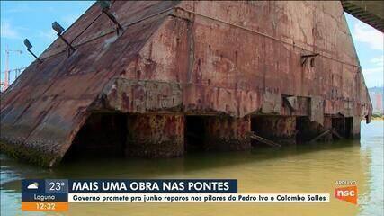 Governo promete para junho início da recuperação das pontes Pedro Ivo e colombo Salles