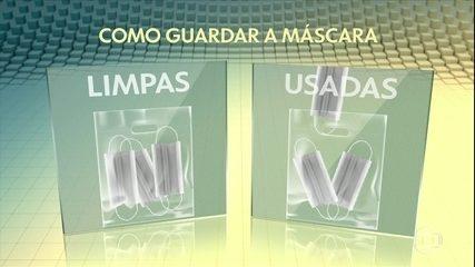 Coronavírus: saiba como guardar máscaras limpas e sujas
