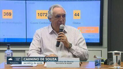 Campinas tem mais 57 casos de Covid-19 e chega a 1.072; ocupação nas UTIs está em 74,82%