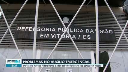 Defensoria Pública orienta trabalhadores que não conseguem receber auxílio emergencial