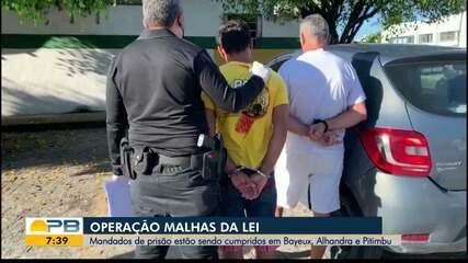 Pelo menos seis pessoas são presas em operação conjunta em três cidades da PB