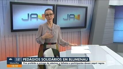 Blumenau proíbe pedágios solidários, entrega de folhetos e adesivos durante a pandemia