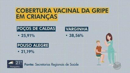 Cobertura de vacinação contra gripe em crianças está baixa no Sul de MG