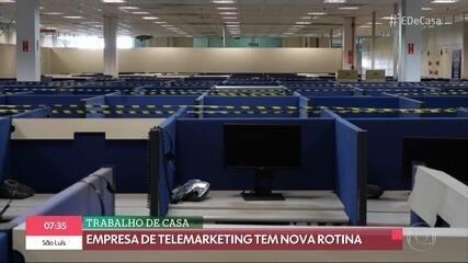 Trabalho de casa: empresa de telemarketing tem nova rotina