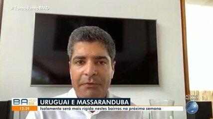 Bairros do Uruguai e Massaranduba também terão medidas de restrição mais severas