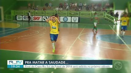Final da Copa Rio Sul de Futsal de 2016 será transmitida no próximo sábado