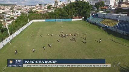 Equipe do Sul de Minas de rugby espera por controle na pandemia para voltar a campo