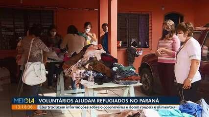 Voluntários ajudam refugiados durante período da pandemia