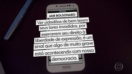 Bolsonaro critica operação contra fake news em rede social