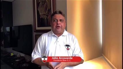 """Presidente do River-PI faz planos para a """"formar grande elenco e time""""; veja"""