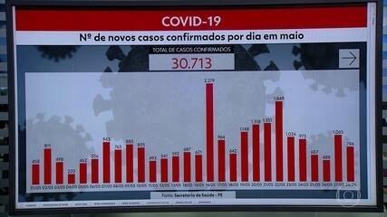 Pernambuco chega a 30.713 casos confirmados e 2.566 mortes por Covid-19